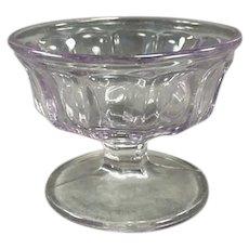 Vintage Soda Fountain Sherbet Dish - Turning Pale Purple