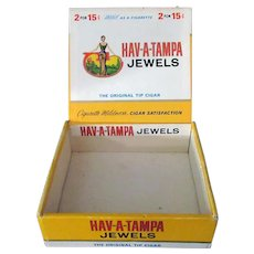 Vintage Hav-A-Tampa Jewels Cigar Box