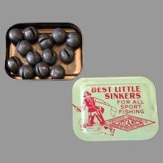 Vintage Fishing Sinkers Tin – Horrocks-Ibbotson Best Little Sinkers in Small Tin