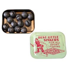 Vintage Fishing Sinkers Tin – Horrocks-Ibbotson Best Little Sinkers in Small Tin