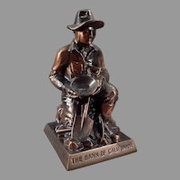 Vintage Advertising Coin Bank with California Gold Prospector