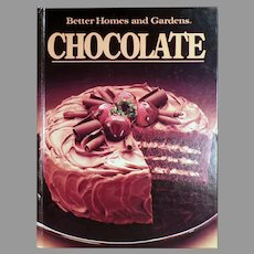 Vintage 1984 Better Homes and Gardens Recipe Book - Chocolate Cookbook