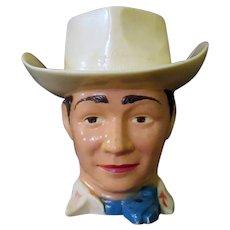 Vintage Roy Rogers Cowboy Cup - F & F Plastic Mug/Pitcher