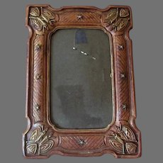 Vintage Picture Frame - Syroco Looks Like Carved Wood with Patriotic Theme