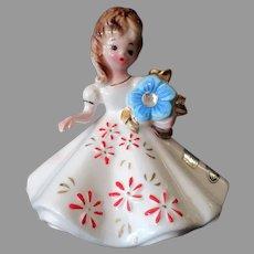 Vintage Josef Original Birthday Girl for December with Original Label