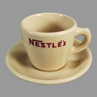 Vintage Nestle's Hot Chocolate Advertising Cup & Saucer - Sterling China Cocoa Cup