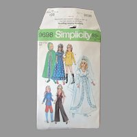 Vintage Simplicity #9698 Clothes Pattern for Crissy, Velvet and Other Teen Dolls