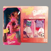Vintage Barbie Doll - Workin' Out Fashions Gift Set with Tennis and Soccer Clothes