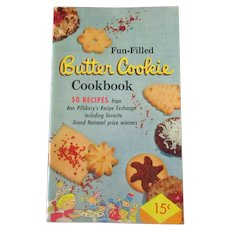 Vintage 1950's Pillsbury's Fun Filled Butter Cookie Cookbook Recipe Booklet