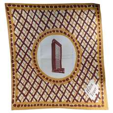 Large Vintage Linen Cloth Napkin from the San Francisco Hilton Tower Hotel