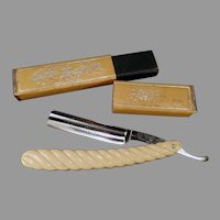 Antique Carbo-Magnetic Griffon XX Straight Razor with Original Box