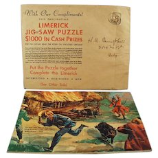 Vintage Advertising Puzzle Premium - Davoe & Raynolds with Fun & Colorful Limerick