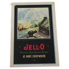 Vintage 1922 Jell-O Recipe Booklet - At Home Everywhere with Colorful Pictures