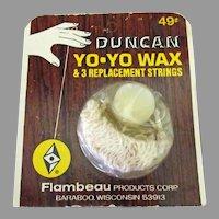 Vintage Duncan Yo-Yo Replacement Strings and Wax on Original Card