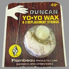 Vintage Duncan Yo-Yo Replacement Strings and Wax on Original Card