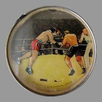 Vintage Dexterity Puzzle Mirror – Skill Game with Boxers - U.S.Zone Germany