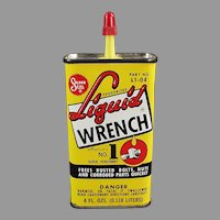 Vintage Radiator Specialty Co. Liquid Wrench Advertising Oil Tin