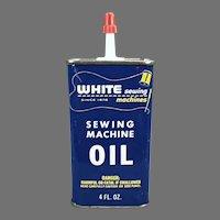 Vintage Oil Tin - White Sewing Machine Company Brand