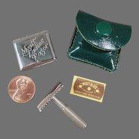 Vintage Ladies Safety Razor Myatt Set with Original Tin and Blade