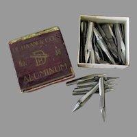 Vintage De Haan No. 38 Aluminum Pen Tips – Approximately 50 Nibs, Original Box