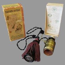 Vintage Tassel-Liter - Pull Chain Light Socket Adapter Cigarette Lighter 1920's