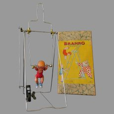 Vintage Wind Up Branko Mechanical Acrobat - Japanese Celluloid with Original Box
