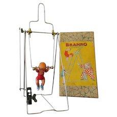 Vintage Wind Up Branko Mechanical Acrobat - Japanese Celluloid with Original Box