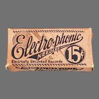 Vintage Electro-Phonic Loud Tone Box - Original Steel Phonograph Needles