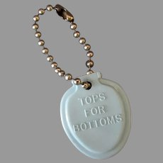 Vintage Key Chain – Tops for Your Bottoms, Solid Olsonite Toilet Seats Advertising