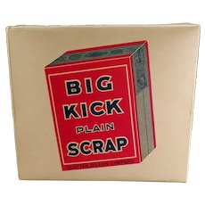 Vintage Tobacco Display Box - Big Kick Plain Scrap Tobacco Cardboard Box