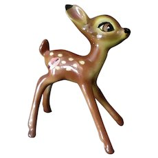 Vintage 1940's American Pottery Figurine from Disney's Bambi with Original Label