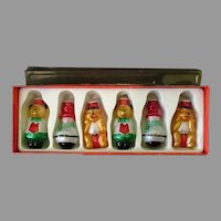 Vintage Christmas Light Bulb Covers – Boxed Set of Six Glass Ornaments