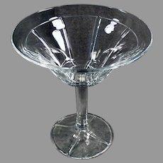 Vintage #441 Rib & Panel Heisey Glassware Stemmed Compote Dish
