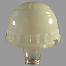 Small Vintage Lamp Shade - Opalescent Custard Glass Specialty Light Fixture Shade