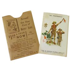Vintage Boy Scouts of America – 1937 Registration Card with Scout Oath & Law