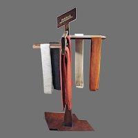 Vintage Paris Suspenders Store Display - Versitile Wood Advertising Rack