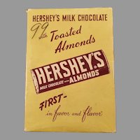 Vintage Hershey Candy Box - Hershey's Milk Chocolate Candy Bar with Almonds - Empty