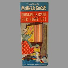 Vintage Mother Goose, Colored Sweetheart Paper Straws – Old Mother Hubbard