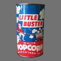 Vintage Popcorn Tin - Unopened Little Buster Pop Corn from Illinois