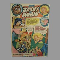 Vintage 1980 Baskin-Robbins Ice Cream Advertising - Basky & Robin Comic Book