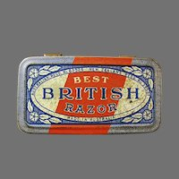 Empty Vintage Razor Tin - Best British Razor Tin - Australia - New Zealand