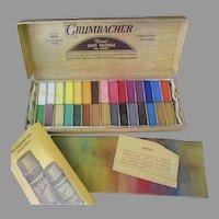 Vintage 00/C Grumbacher Soft Pastels – 30 Half-Length Assortment – Very Good Condition