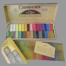 Vintage 00/C Grumbacher Soft Pastels – 30 Half-Length Assortment – Very Good Condition