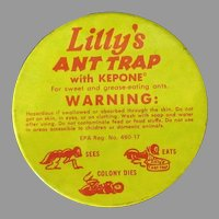 Vintage Tin - Lilly's Ant Trap - Fun Bug Graphics