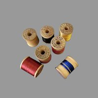 Vintage Wooden Thread Spools – Seven J & P Coats Wood Spools