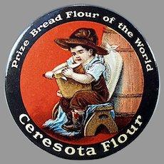 Vintage Advertising Celluloid Pocket Mirror -  Ceresota Flour - Nice Condition