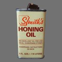 Vintage Smith's Honing Oil Tin – Arkansas Hiram Smith Whetstone Empty Tin