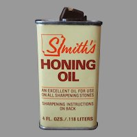 Vintage Smith's Honing Oil Tin – Arkansas Hiram Smith Whetstone Empty Tin