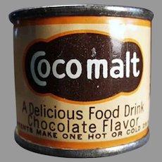 Vintage Cocomalt Sample Tin - Little Cocoa Advertising Tin