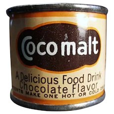 Vintage Cocomalt Sample Tin - Little Cocoa Advertising Tin